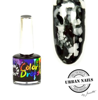Color Drops 12 Zwart