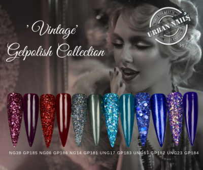 Vintage Gel Polish Collection inclusief glitters