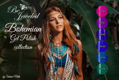 BE JEWELED BOHEMIAN GELPOLISH COLLECTION 5+1 FREE