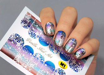 Vanilla Nail Art Slider M001