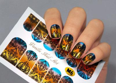 Vanilla Nail Art Slider M006