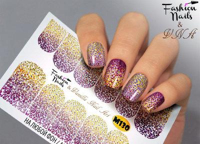 Vanilla Nail Art Slider M130