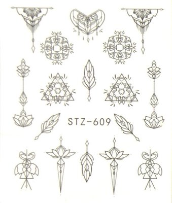 Water Decal Sticker STZ609