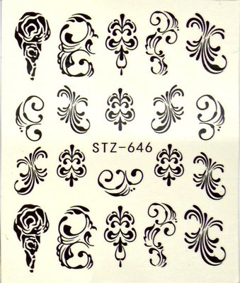 Water Decal Sticker STZ646