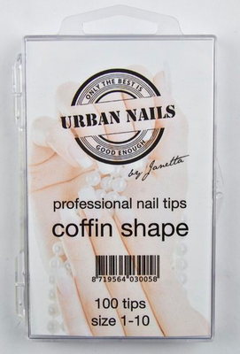 COFFIN SHAPE TIPS (100 STUKS)