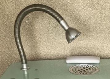Complete suction hose including lamp for Uni-Table
