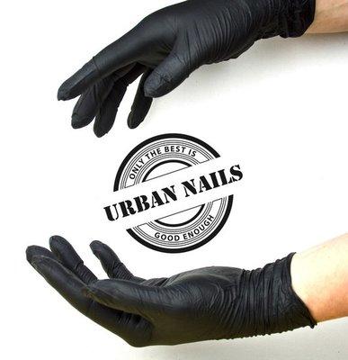 Handschoenen Zwart Poedervrij Nitril Maat S