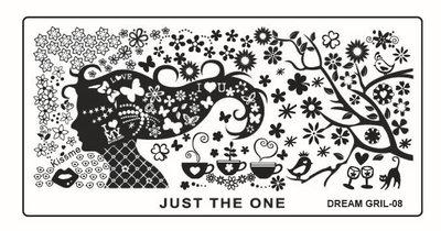 Stempelplaat 40 Dreamgirl 08