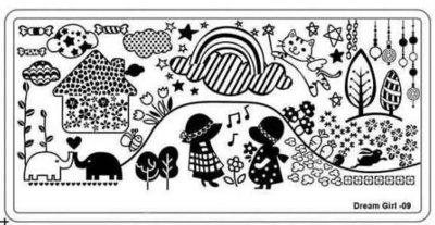 Stempelplaat 41 Dreamgirl 09
