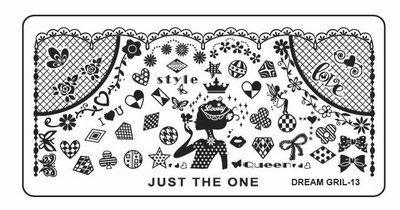 Stempelplaat 45 Dreamgirl 13