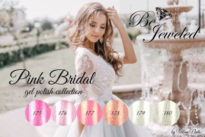 Be Jeweled Pink Bridal Collectie Urban Nails
