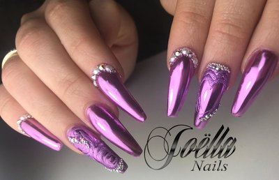 Purple Valentine Nails By Joella Alfons