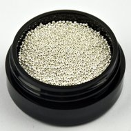 CAVIAR BEADS ZILVER 0,8MM MIDDEL