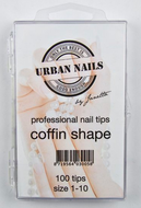 COFFIN SHAPE TIPS (100 PIECES)